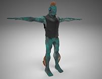 Fishman - Character Design & Rig