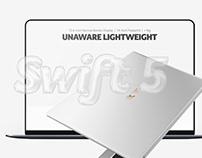 Acer Swift 5 Web Design