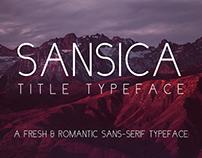 Sansica - a Professional & Romantic Sans-serif Typeface