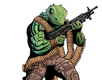 Lizard with the gun