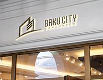 Baku city residence logo design