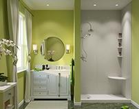 Bathroom concept design/visualization