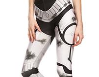 Storm Trooper Battle Damage Inspired Leggings & Croptop