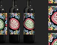 Funky olive oil label