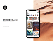 Graphiccollege - Daily Design Inspiration App