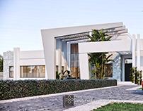 Modern villa with sailing movements