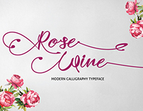 RoseWine Calligraphy Typeface