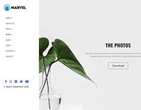 Marvel Vertical Menu WordPress Theme - Photo Page