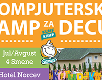 Poster for Summer Camp, Serbia, 2016.