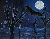 Bats on a full moon night