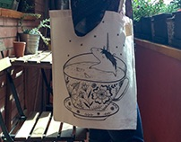 Tea time tote bags