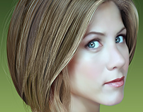 Jennifer Aniston Gradient Mesh Portrait