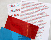 """Interpretation of """"Forgotten Dialect"""" poem with Type"""