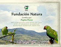 Diplomas Fundación Natura - Colombia