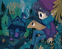 The Mysterious House - Children Illustration