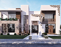 Elegant luxury modern villa in UAE