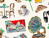 A C R Y L / Dreaming of Paris / Editorial Illustration