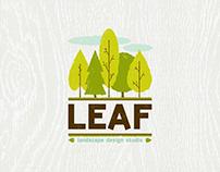 Leaf landscape design studio logo