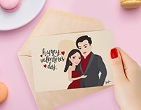 Valentine's Day personalized card