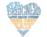 """Real Designers"" typographic illustration"