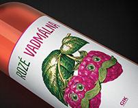 Wild Raspberry Rosé / GIK wine label