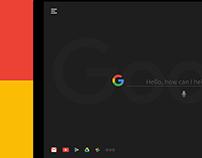 Google Search Concept - Dark Edition