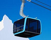 Zermatt Pininfarina Cable Car Poster