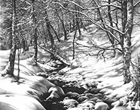 "Pencil drawing of ""Winter Wonderland"""