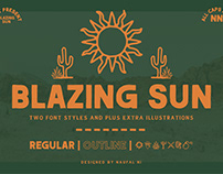 BLAZING SUN - Font