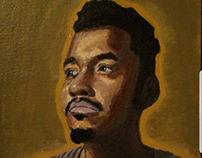 Self portrait. Acrylic on canvas