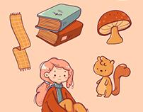 Atumn Stickers