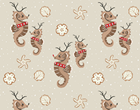 Seahorse Reindeer and Holiday Cookies