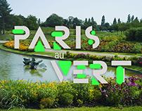 Paris au vert - Identity and web app