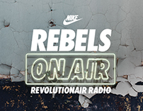 NIKE Rebels On Air Brand Identity