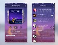 Music Player App UI Template