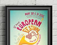 18th Annual European Festival Poster