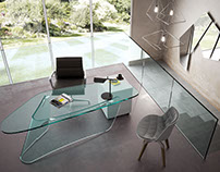 Glass furniture rendering
