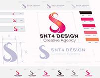 SNT4 Design Logo & Brand Visual Identity