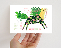 Set of 12 postcards for the year of the Horse