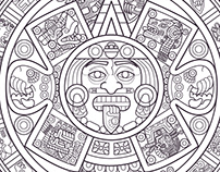 """Sun Stone"" The Aztec Calendar by DTM"