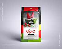 Free Food Pouch Packaging Mockup