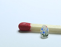 Chinese Brush Painting on Rice Grains