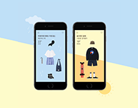 NAL℃ MAP℃ - Weather info based fashion curating app