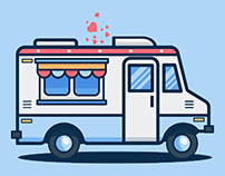 Ice Cream Truck Illustration