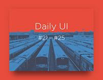 Daily UI challenge #21-25