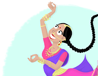 CDC : Indian dancer theme