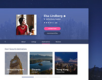 Daily UI #006 - travel website profile page