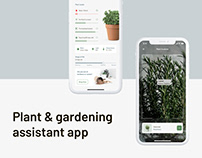 Plant & gardening assistant app