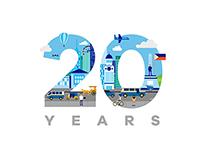 Microsoft Philippines 20th Anniversary Logo