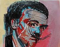 """De la serie Retratos de artistas """"El salvador Dalí"""""""